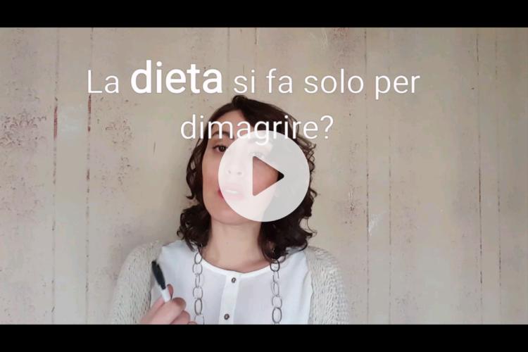 La dieta serve solo per dimagrire?